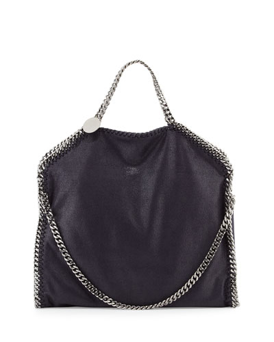 Falabella Fold-Over Tote Bag, Navy