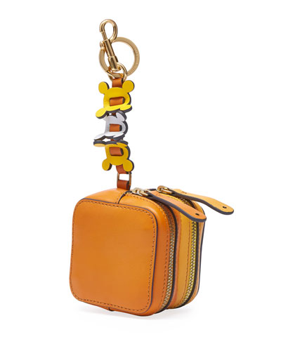 Double-Zip Circulus Coin Purse, Orange