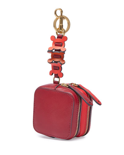 Double-Zip Circulus Coin Purse, Red
