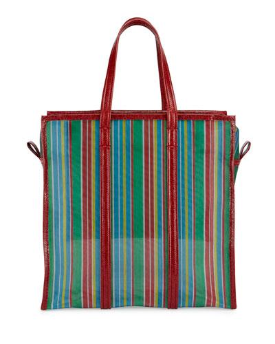 Bazar AJ Shopper Tote Bag, Green/Red
