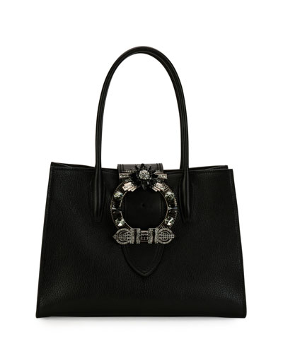Top-Handle Lady Bag, Black
