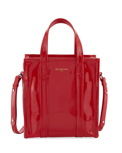 Bazar Patent XS Shopper Tote Bag, Red