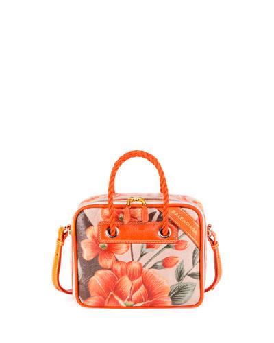 Blanket Square Small AJ Tote Bag, Orange
