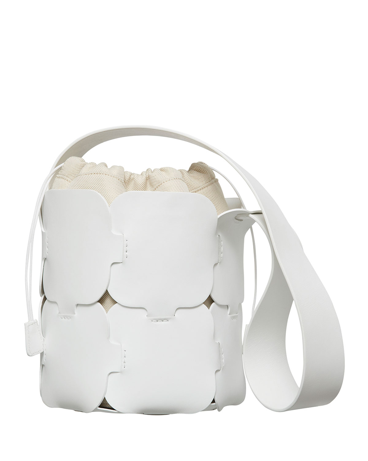 16#01 Mini Leather Hobo Bag, White