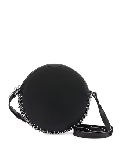 Leather Circle Bag, Black