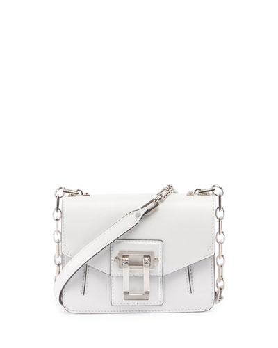Hava Leather Chain Shoulder Bag, White