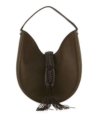 Ghianda Woven Leather Shoulder Bag