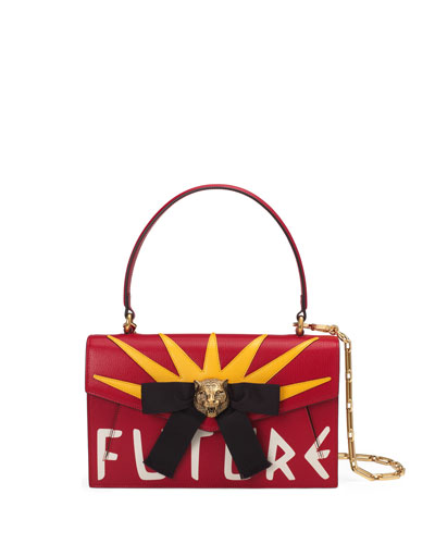 Linea D Future Top-Handle Bag, Red/White