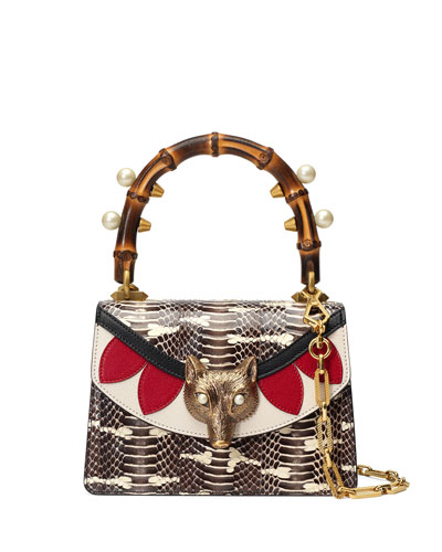Linea Snakeskin Top-Handle Bag