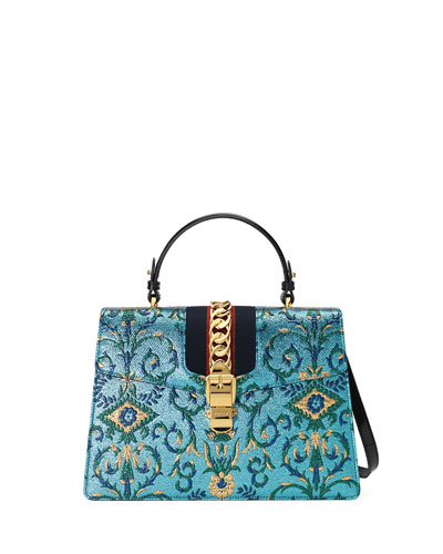 Sylvie Brocade Top-Handle Bag