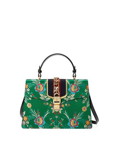 Sylvie Tokyo-Print Top-Handle Satchel Bag, Multi