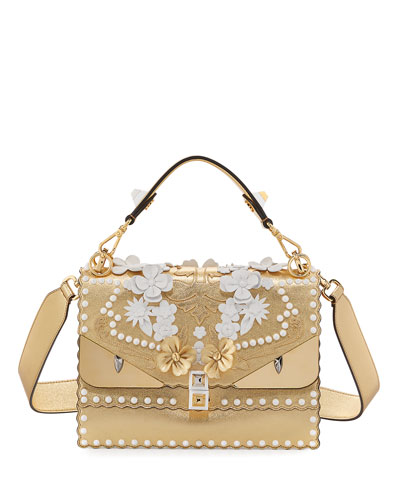 Kan I Wonder Monster Shoulder Bag, White/Gold