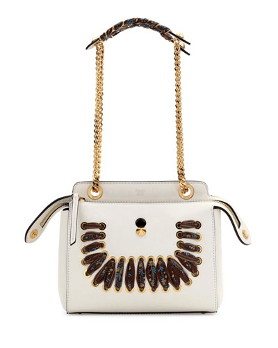 Dotcom Whipstitched Leather Cross-Body Bag, White