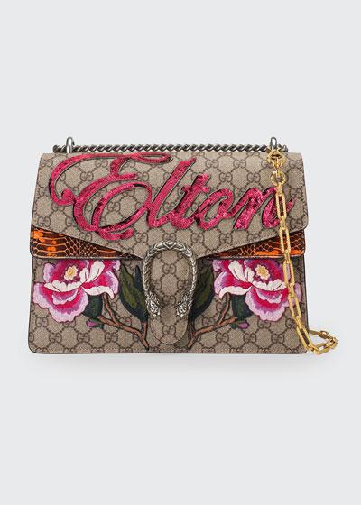 Dionysus Medium Elton Shoulder Bag, Neutral/Multi