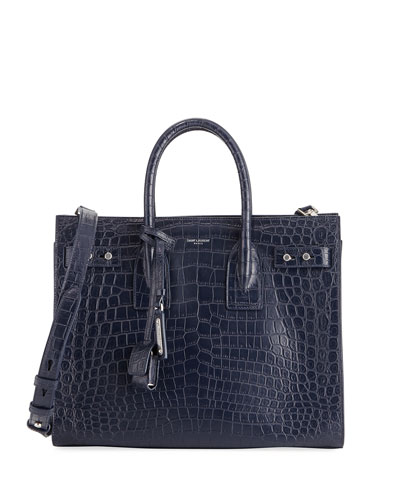 Sac de Jour Small Crocodile-Embossed Satchel Bag