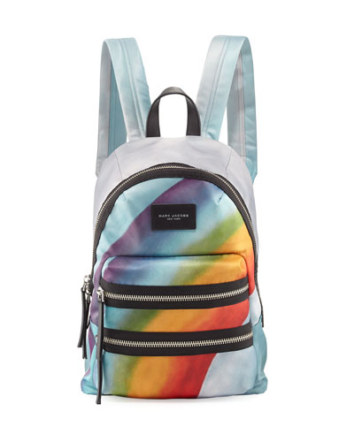 Rainbow-Print Nylon Biker Mini Backpack, Multi