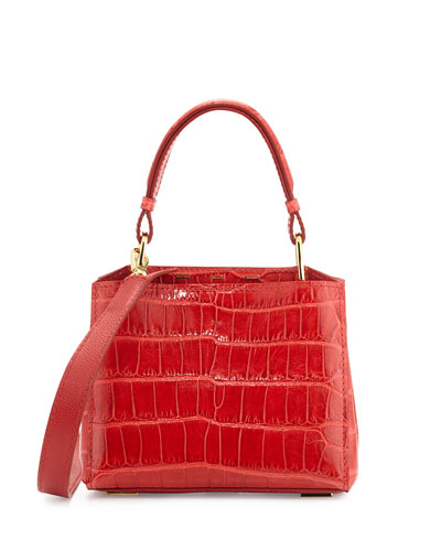 Seven 20Cocco Crocodile Bag, Red