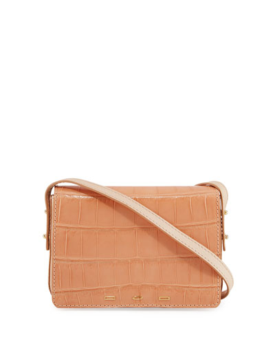 Pulcecocco Millennium Crocodile Shoulder Bag, Salmon
