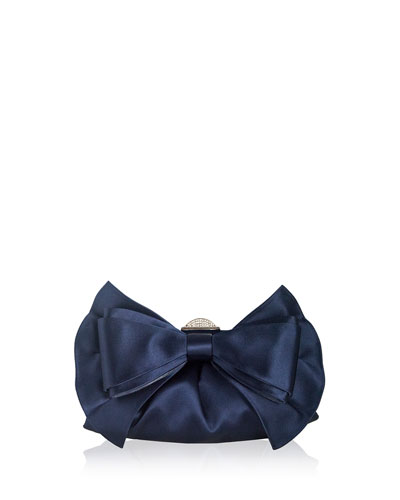 Madison Satin Bow Clutch Bag