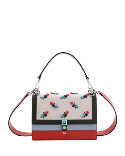 Kan I Beaded Flower Shoulder Bag, Multi