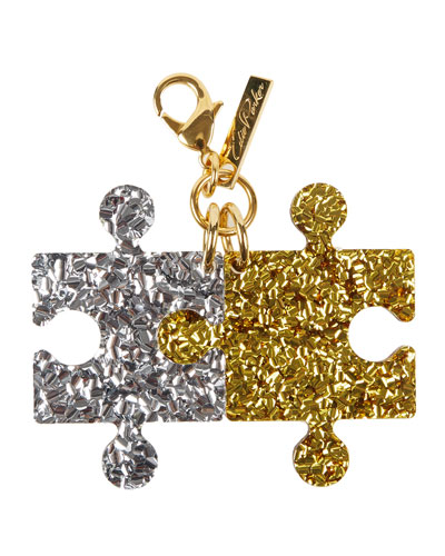 Glittered Resin Puzzle Charm, Multi