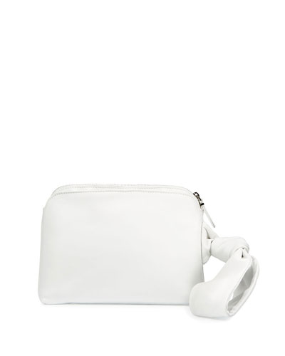 Zip-Top Leather Wristlet