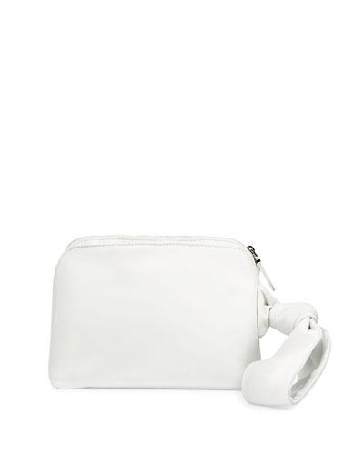 Zip-Top Leather Wristlet