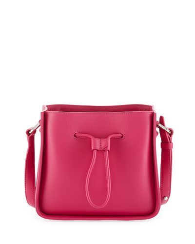 Soleil Mini Drawstring Bucket Bag, Pink