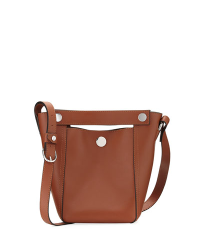 Dolly Small Leather Tote Bag, Camel