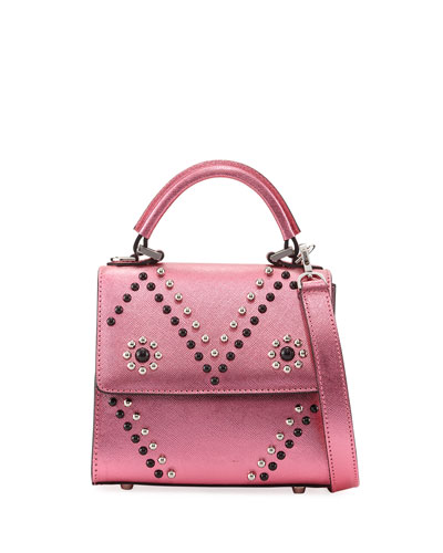 Micro Alex Mask Satchel Bag, Pink