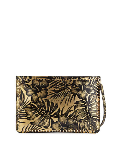 Loubiclutch Lamé Clutch Bag, Black/Gold