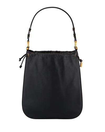 Large Savannah Leather Shoulder Bag