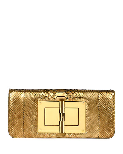 Natalia Long Cosmo Python Clutch Bag