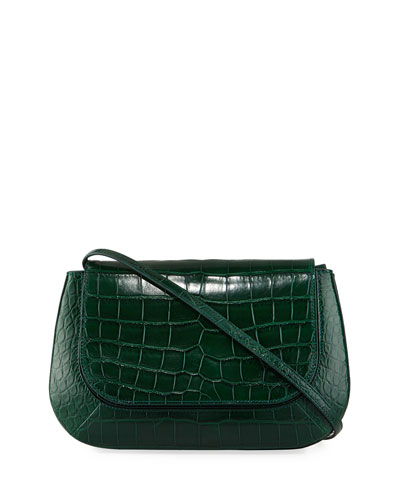 Fan Bag 10 Alligator Shoulder Bag, Green