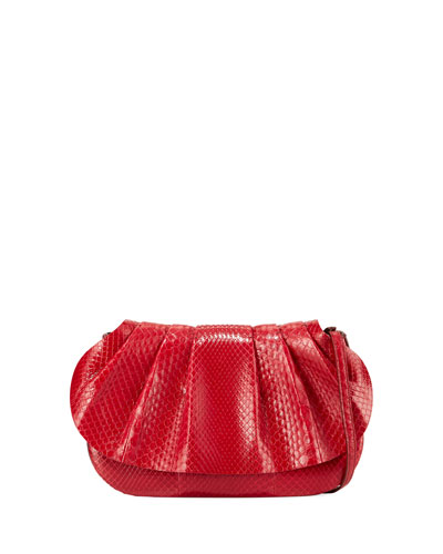 Fan Bag 10 Small Python Clutch Bag