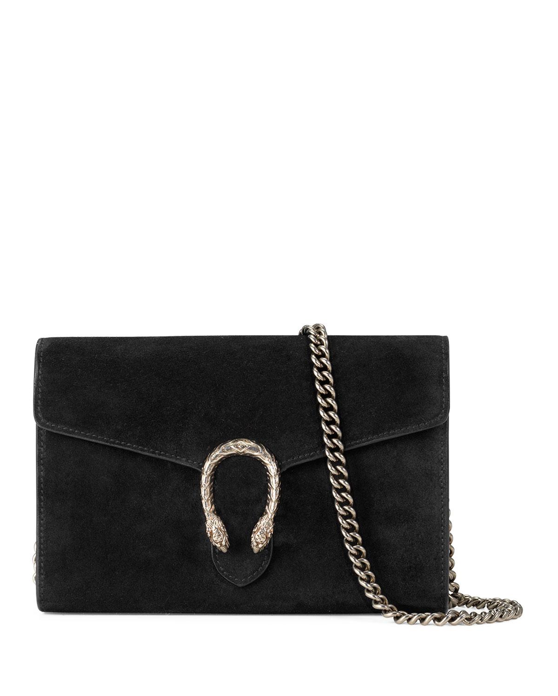 Gucci Dionysus Suede Mini Chain Bag, Blue