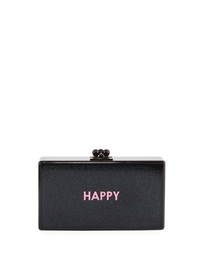 Jean Happy Acrylic Clutch Bag
