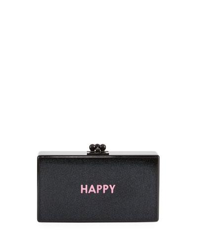 Jean Happy Acrylic Clutch Bag