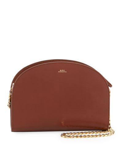 Luna Leather Chain Shoulder Bag