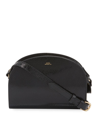 Sac Demi-Lune Embossed Shoulder Bag