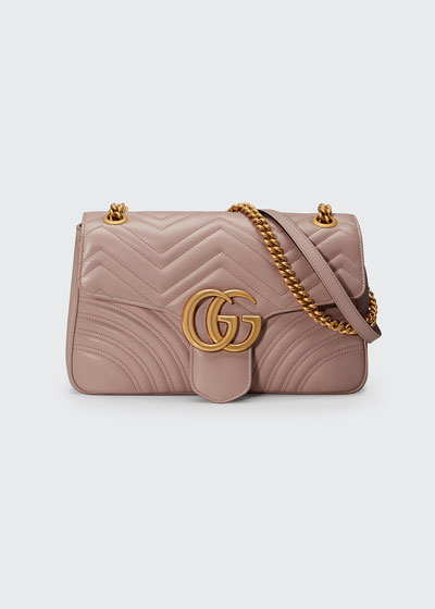 GG Marmont Medium Leather Shoulder Bag