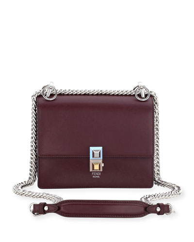 Kan I Mini Scallop Studded Shoulder Bag, Dark Red