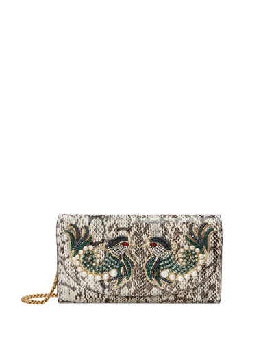 Broadway Small Watersnake Clutch Bag