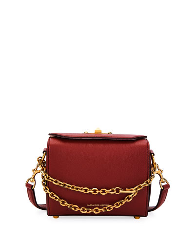 Box Bag 15 Leather Shoulder Bag, Red