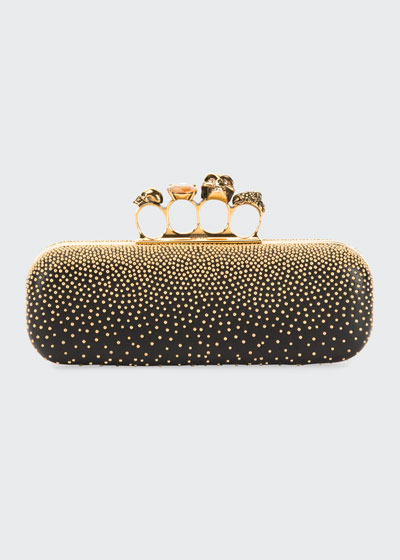Studded Four Ring Clutch Bag