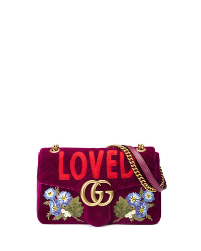 GG Marmont 2.0 Small Loved  Shoulder Bag, Fuchsia