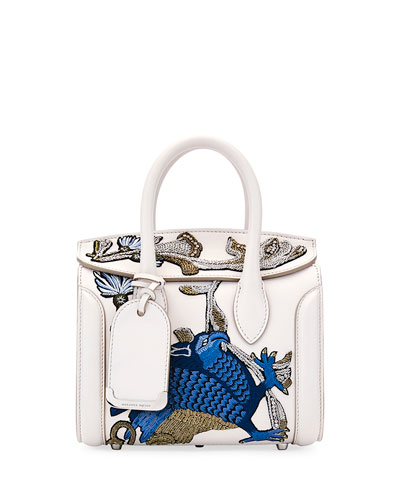 Heroine 21 Mini Matte Calf Embroidered Tote Bag
