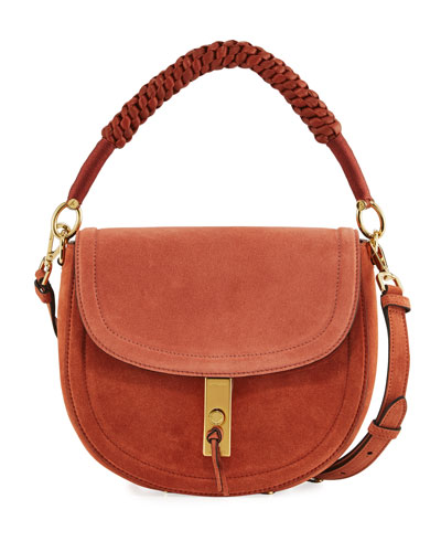 Braided Leather Saddle Bag