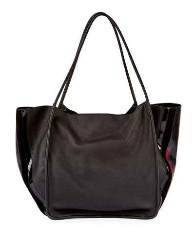Extra Large Lindos Tote Bag, Black