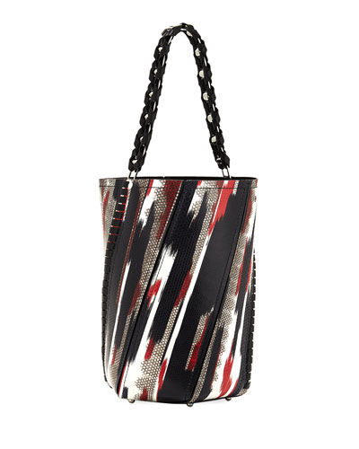 Hex Large Whipstitch Brushstroke Bucket Bag